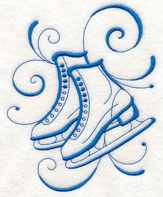 Inky Ice Skates
