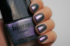 Butter London Knackered (with black polish base)