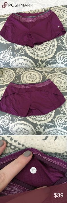 Lululemon Speed Shorts EUC speed shorts, inside liner has been cut out.  This is a reposh, they don't fit as I would have hoped (sad!) Outside of liner being removed they are in like new condition. lululemon athletica Shorts