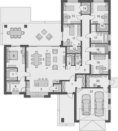 European House Plans, Bungalows, Floor Design, Planer, My Dream, Architecture Design, Layouts, Condo, Sweet Home