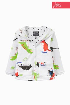 Buy Joules Baby White Cuddle B Hooded Jersey Jacket from the Next UK online shop