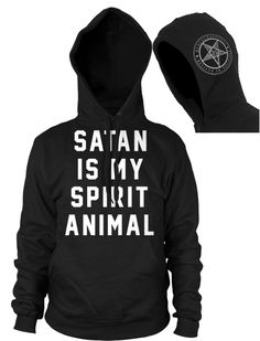 Satan Is My Spirit Animal - Hooded Pullover Sweater