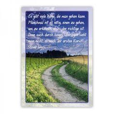 Postkarte - Es gibt viele Wege, die man gehen kann. Manchmal ist es nötig, einen zu gehen, um zu erkennen, ob es der richtige ist. Denn auch durch langes Überlegen sieht man nicht, ob nach der ersten Kurve Steine liegen. [unbekannt]