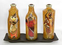 decoração garrafas vidro reciclagem - Pesquisa Google