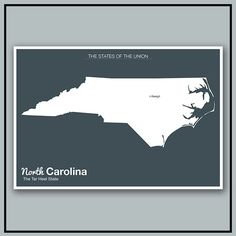 The Modern United States // Minimalist North Carolina by NeueModernPress, $20.00