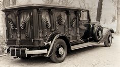 1934 S&S Olympian Hearse.    One of twelve1934 Sayers & Scoville (Ohio) Hearses built for 1934. Olympian model. Original funeral owners were Herman Cole, Clarks Summit, PA