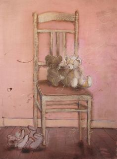 Teddy Bears on A Chair.