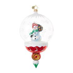 Christopher Radko Ornaments   Radko Snowmen A Lantern Lights the Way 1018695