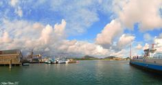 Beautiful clouds on the Ferry Boat - Ferry Boat Santos/Guarujá - SP / Brazil