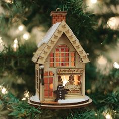 Christmas Tree Box Stand, Christmas Tree Trimming, Old World Christmas Ornaments, Christmas Village Houses, House Ornaments, Christmas Tree Farm, Christmas Scenes, Christmas Villages, 12 Days Of Christmas