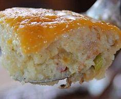 Twice-Baked Mashed Potatoes Recipe : Melissa d'Arabian : Food Network