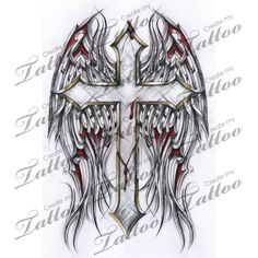 Here at Create My Tattoo, we specialize in giving you the very best tattoo ideas and designs for men and women. Kunst Tattoos, Tattoo Drawings, Body Art Tattoos, Sleeve Tattoos, Wing Tattoos, Tribal Rose Tattoos, Celtic Tattoos, Cross Tattoo Designs, Tattoo Designs Men