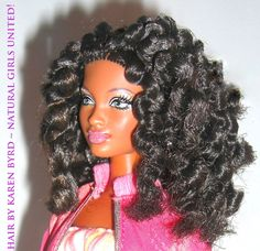 I wish I had these dolls when I was little. I probably wouldn't have fried my hair so much!