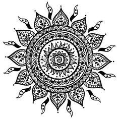 Красивый Индийский орнамент — Векторная картинка #22539783