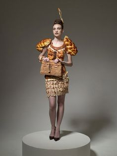 Dress made of bread...D'oh!