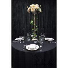 """Midas Event Supply Renaissance Tablecloth Size: 60"""" x 120"""", Color: Black"""