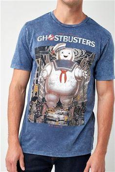 84114b62fb1 Navy Ghostbusters Graphic T-Shirt