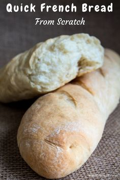 Fresh, crusty French bread is so wonderful and when you make this Quick French bread Recipe you'll see just how easy it is to enjoy this treat more often!