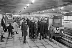 De eerste metro rit in 1968