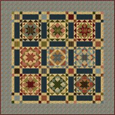"""""""Ode to the Blue and the Gray"""" One of Nancy Rink's outstanding Civil War quilts"""