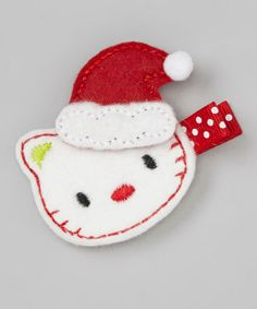 Take a look at this White Christmas Kitty Felt Clip by Festive Fifi on #zulily today!