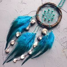 Items similar to Dream catcher for car Turquoise dreamcatcher Car dream catcher Traumfänger Shells Coworker Gift Small dream catcher Dream catchers on Etsy Dream Catcher For Car, Black Dream Catcher, Large Dream Catcher, Dream Catchers, Diy Dream Catcher Tutorial, Native American Decor, Rooster Feathers, Receptor, Boho