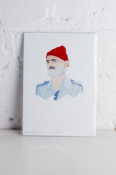 Fans of The Life Aquatic will love this drawing by AndIzzy, the creative outlet for Ellizabeth Anderson to illustrate the things that inspire her. Life Aquatic, Bill Murray, Creative Outlet, Kiwi, The Creator, Polaroid Film, Drawings, Illustration, Prints