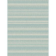 Piazza Geometric Light Grey/Blue Outdoor Area Rug
