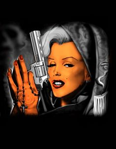 Marilyn Monroe Gangster | Marilyn Monroe gangster by pave65 on DeviantArt