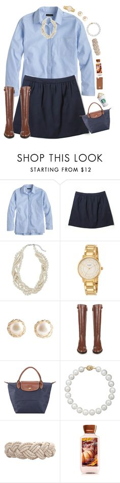 """classic"" by preppy-ginger-girl on Polyvore featuring J.Crew, John Lewis, Kate Spade, Burberry, Longchamp, Belle de Mer, Swell and Tory Burch"