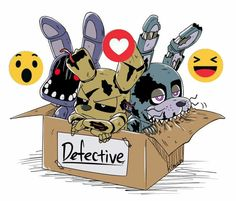 Whitered Bonnie: Were are we? -_- Springtrap: Shut up you uke. Nightmare Bonnie: *ñom ñom ñom* ^^