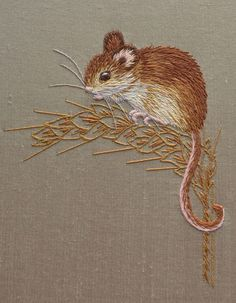 Course work by Helen Richman. Via Royal School of Needlework Facebook page.
