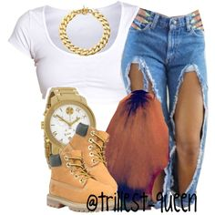 . by trillest-queen on Polyvore featuring Movado, Michael Kors and Timberland