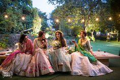 WedMeGood Blog - Brides in Pastel Colored Matsya Lehengas | WedMeGood #wedmegood #indianbride #sisterofthebrideoutfits #sisterofthebride #lehengas #bridal #indianlehengas #weddinglehengas