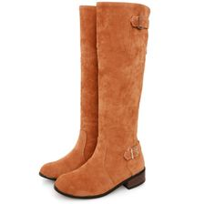 Comfortable boots buckle knee high shoes Z-BL-B33