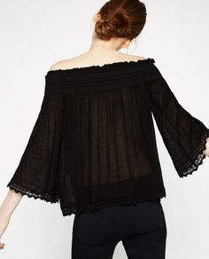 Image 5 of OFF-THE-SHOULDER TOP from Zara