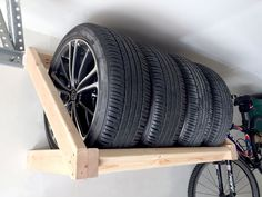 Garage Storage Ideas That Make the Most of Your Space Are you somebody that has a messing garage that is not organized. Below are 42 garage storage ideas that will certainly help you arrange your garage like a champ. Garage Workshop Organization, Garage Tool Storage, Garage Storage Solutions, Workshop Storage, Garage Tools, Garage Shop, Diy Storage, Organization Ideas, Tire Storage Rack