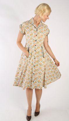 1940s Dress // vintage 40s // Summer Frolic by dethrosevintage, $85.00