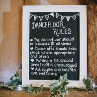 This is a fun idea! Having dance floor rules this cute can't not be included! ~A