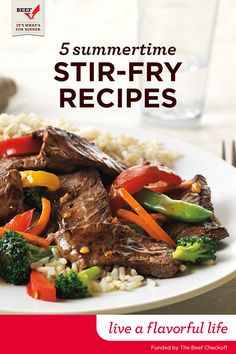 Break out the wok! Try a delicious stir-fry to incorporate seasonal vegetables into your family's summer meals. Just cook Top Sirloin strips with fresh vegetables and toss with your favorite sauce. Funded By The Beef Checkoff