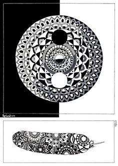 Yin Yang Mandala Print by Splund on Etsy