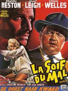 Belgian poster for the Orson Welles-directed Touch of Evil (1958 ...