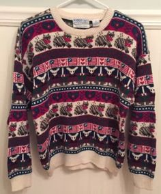 Petites Crewneck Thin Knit Sweaters PS for Women Ugly Cat, Ugly Christmas Sweater, Crew Neck, Knitting, Best Deals, Clothes, Shopping, Women, Tricot