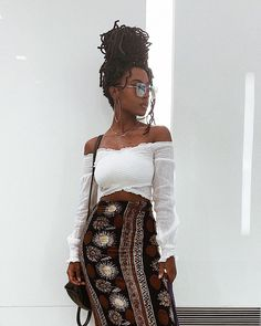 looking like that auntie thats always burning incense and bumping Luther Vandross Earthy Outfits, Chic Outfits, Girl Outfits, Fashion Outfits, Pretty Outfits, Fashion Clothes, Summer Outfits, Afro Punk Fashion, Boho Fashion
