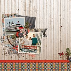 The Natchez ~ Template by AK Designs & kit is On The Bayou by Scraps N Pieces.