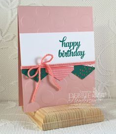 Stampin' Up! Paper Pumpkin July 2016 Kit. See all of my Alternative ideas and sign up before August 10 to receive the next kit. Debbie Henderson, Debbie's Designs