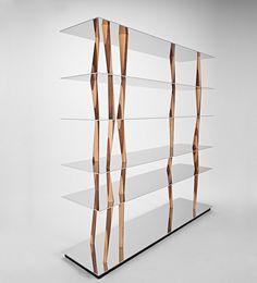 Buy online Sendai By casamania & horm, aluminium and wood bookcase design Toyo Ito, sendai Collection