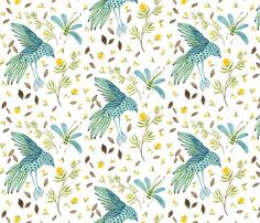 gollybard small scale grand frolic fabric - spoonflower