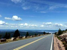 Acadia Park, Cadillac Mountain, Bar Harbor Maine.