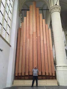 Leiden Hooglandsekerk  organ  32 feet open